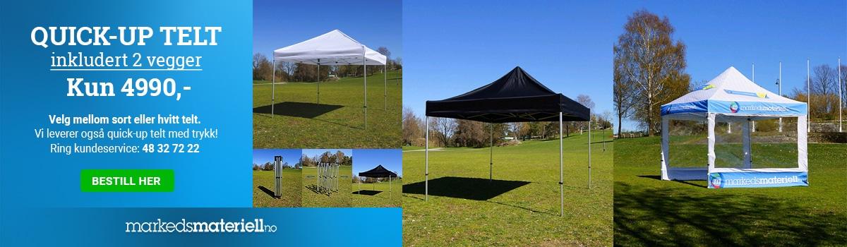 Quick-Up Telt inkludert 2 teltvegger kun 4990,-