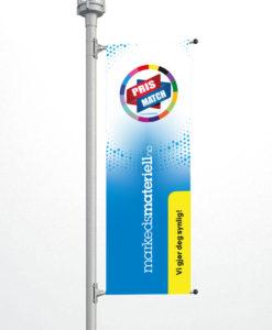 Bannerarm, Stolpeflagg, flagg til stolpe fra Markedsmateriell.no