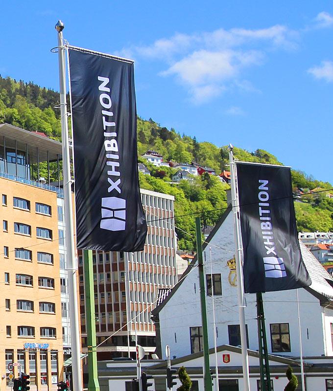 Windtracker bannerarm flaggholder til flaggstang fra Markedsmateriell