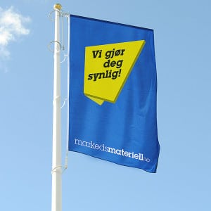 Windtracker flaggarm fra Markedsmateriell