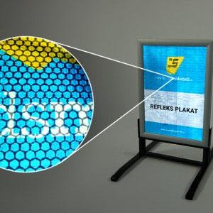 Refleks banner pvc med refleks trykk