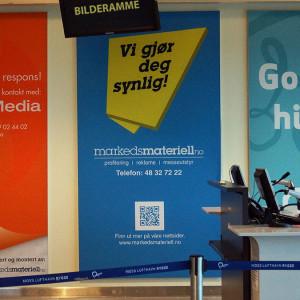 rygge flyplass markedsmateriell banner reklame folie bannerheis sagengmedia