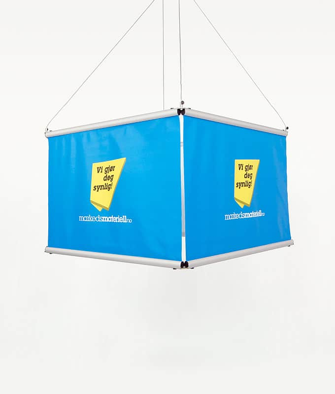 Takheng firkant banner oppheng messeutstyr markedsmateriell