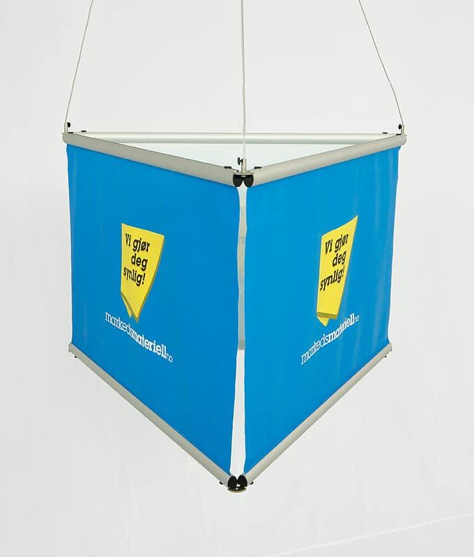 Taheng trekantet banner oppheng messeutstyr Markedsmateriell