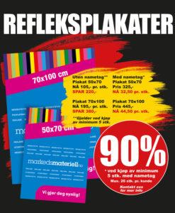 BLACK DAYS! Refleksplakater fra Markedsmateriell.no!