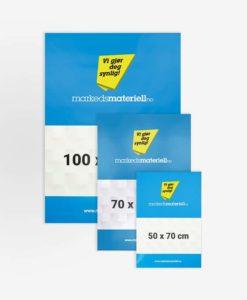 Plakater med trykk på papir, pvc og refleks materiale fra Markedsmateriell.no