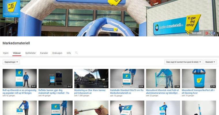 Markedsmateriell Youtube Kanal