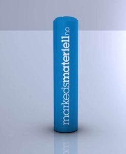 Oppblåsbar reklamesøyle med heldekkende trykk 2-3 meter høyde
