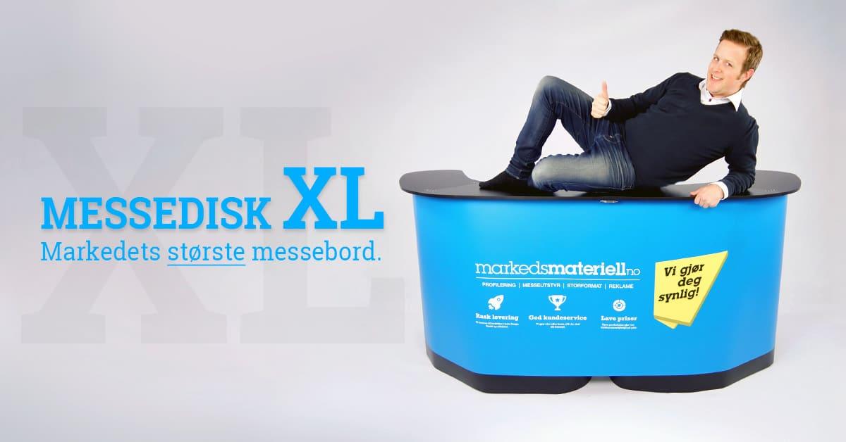Messedisk XL transportkasse stort messebord fra Markedsmateriell.no