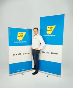 Rollup Premium Banner Stativ display fra Markedsmateriell.no