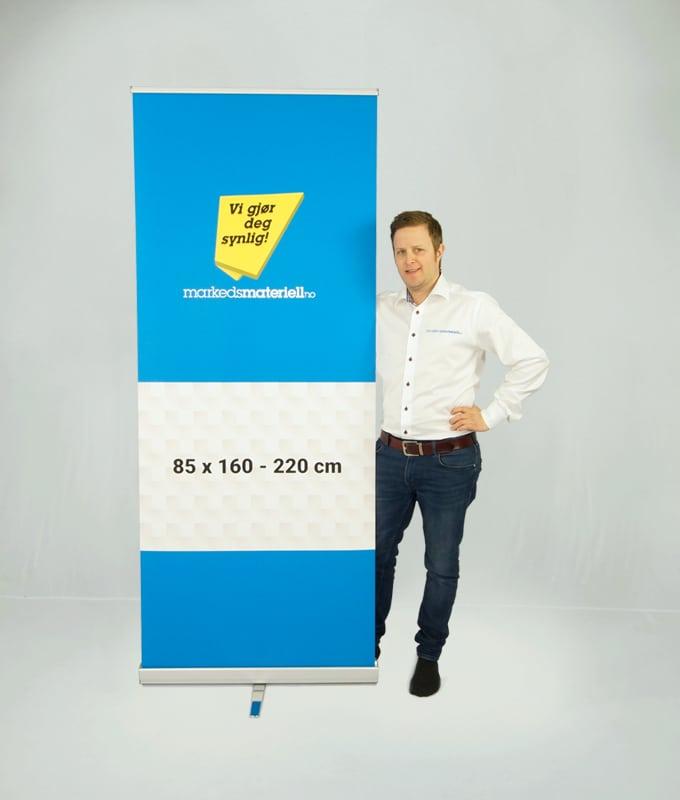 Rollup Premium Banner Stativ display fra Markedsmateriell.no