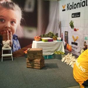 Kolonial.no tekstilbanner og sakkosekker fra Markedsmateriell.no