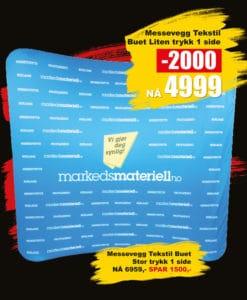 BLACK DAYS! Messevegg Tekstil Buet fra Markedsmateriell.no!