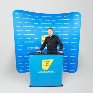 Tekstil Display ZIP med glidelås fra Markedsmateriell.no