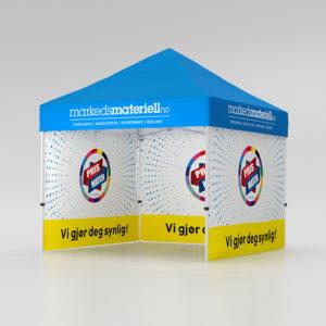 Telt med trykk 3×3 meter, reklametelt fra Markedsmateriell.no