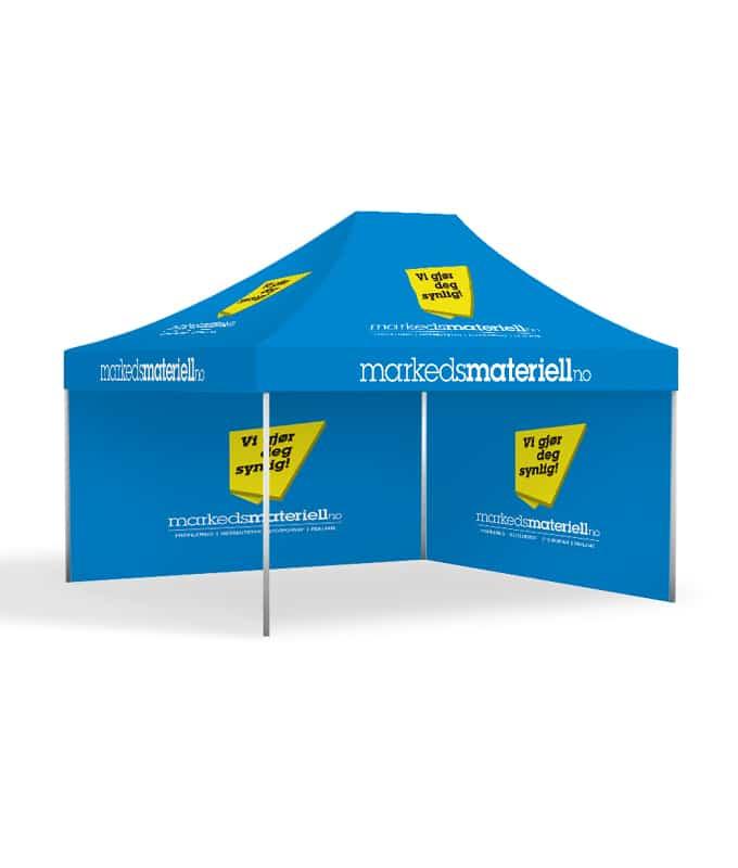 Telt med trykk 3x4,5 meter Reklametelt fra Markedsmateriell.no