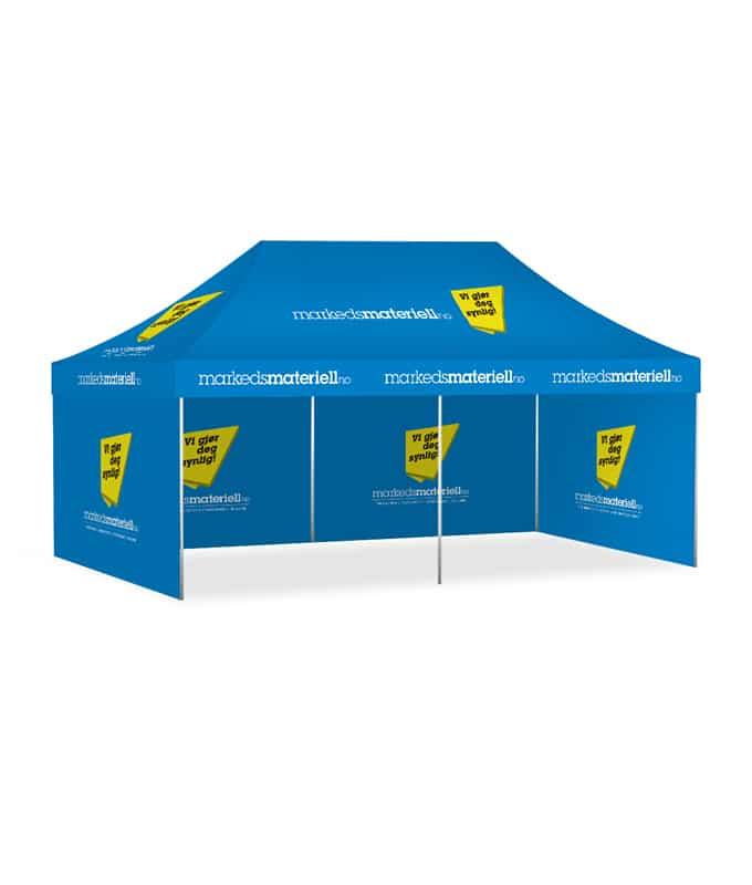 Telt med trykk 3x6 meter, reklametelt fra Markedsmateriell.no