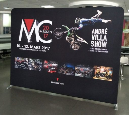 MC Messen 2017 tekstil display zip-wall fra Markedsmateriell.no