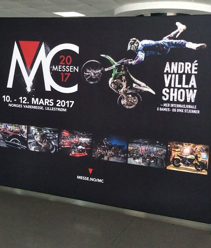 MC Messen 2017 tekstil display zip-wall fra Markedsmateriell.no