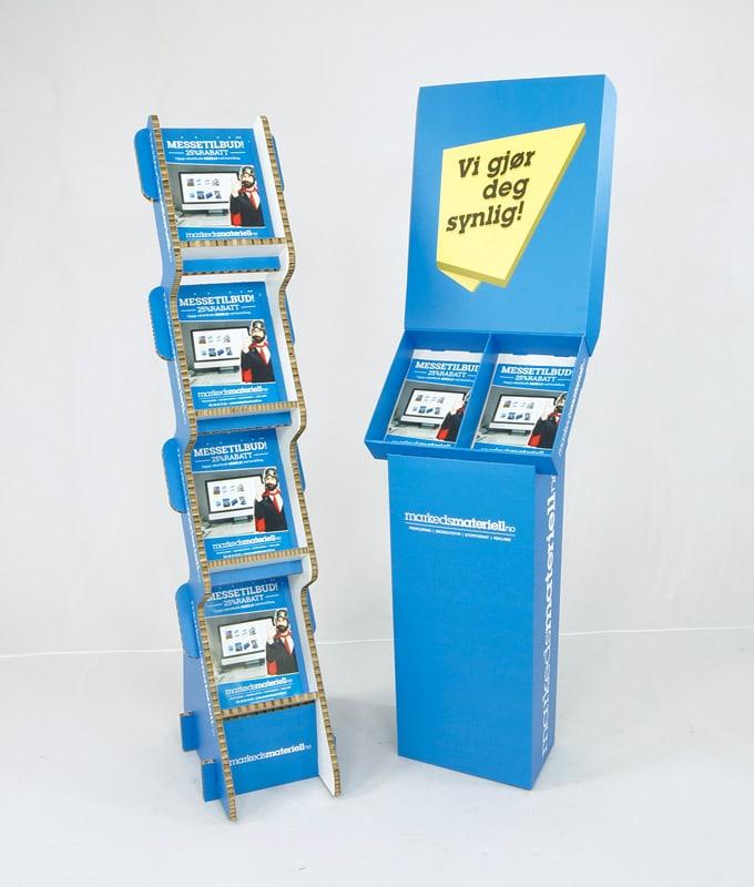 pappdisplay, sjokkselgere, salgsstand og skreddersydde display av papp fra Markedsmateriell