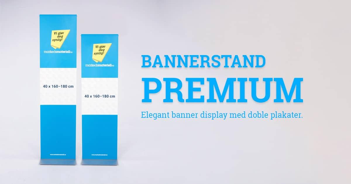 Bannerstand Premium tosidig banner stand stativ display fra Markedsmateriell.no