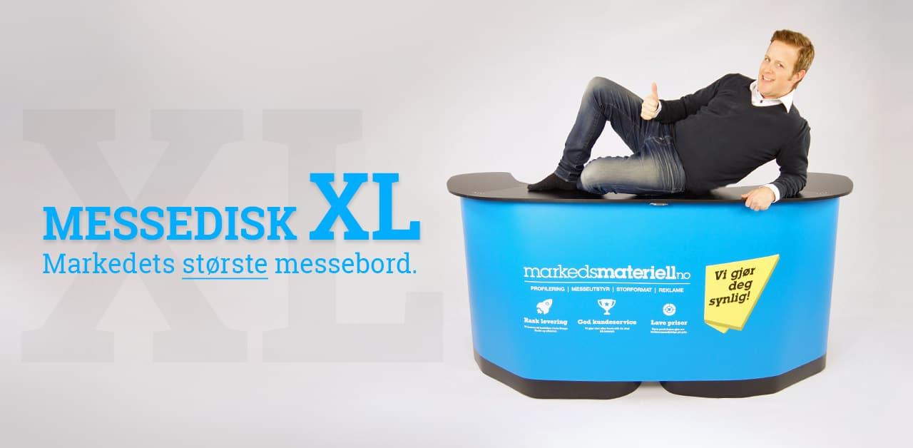 Messedisk XL markedets største messebord får du hos Markedsmateriell.no