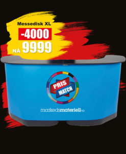 BLACK DAYS! Messebord XLarge fra Markedsmateriell.no!
