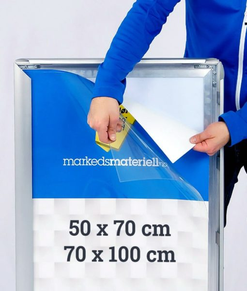 Plakatdeksel 50×70 og 70×100 cm størrelser fra Markedsmateriell.no