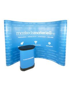 Messevegg Buet Large - Komplett messe pakke fra Markedsmateriell.no