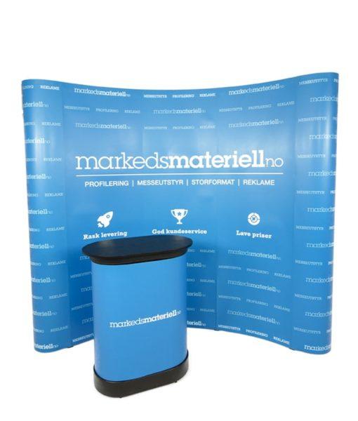 Messevegg Buet Medium - Komplett pakke fra Markedsmateriell.no