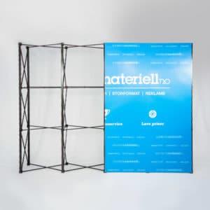 Messevegg Rett Large – Komplett pakke fra Markedsmateriell.no