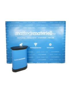 Messevegg Rett Large - Komplett pakke fra Markedsmateriell.no