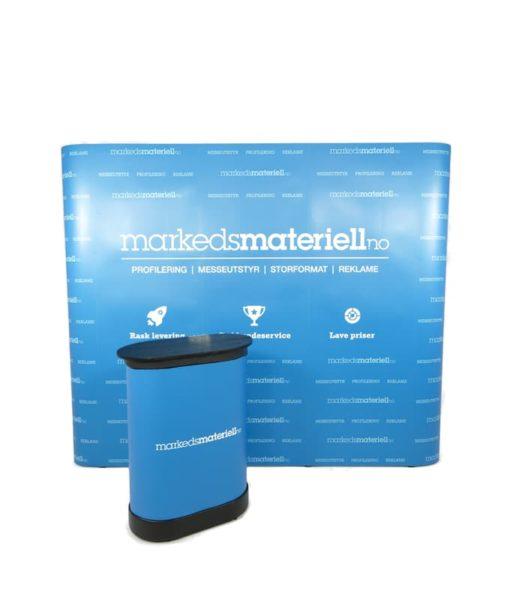 Messevegg Rett Medium – Komplett pakke fra Markedsmateriell.no
