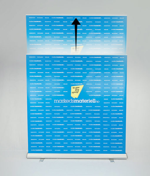 Rollup Messevegg Large 200×200-300 cm fra Markedsmateriell.no