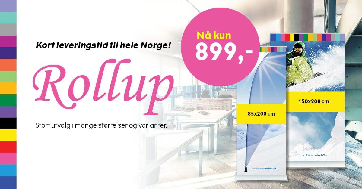 Norges beste priser på rollup fra Markedsmateriell.no