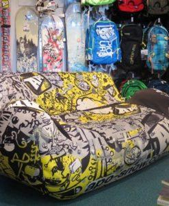 Oppblåsbar sofa - med eget trykk