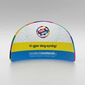 Messevegg Buet halvsirkel – fra Markedsmateriell.no