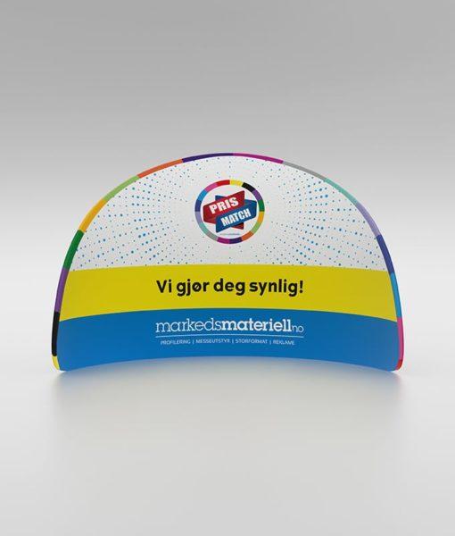 Messevegg Buet halvsirkel - fra Markedsmateriell.no