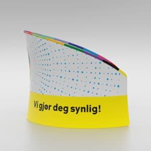 Messevegg buet romdeler i lekker design – fra Markedsmateriell.no