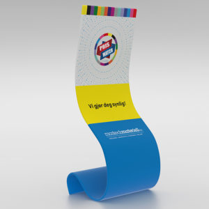 Rollup Cobra i moderne og leken design - fra Markedsmateriell.no