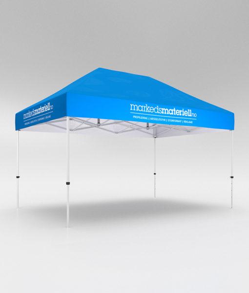 Telt med trykk 3x4,5 meter, reklametelt fra Markedsmateriell.no