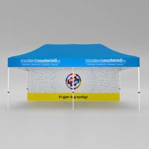 Telt med trykk 3×6 meter, reklametelt fra Markedsmateriell.no