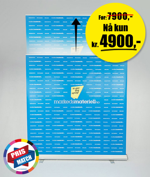 Rollup Messevegg Large - Lagersalg hos Markedsmateriell.no!