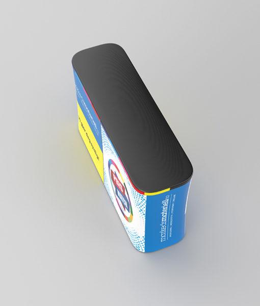 Messebord XL Konkav fra Markedsmateriell.no