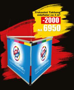 BLACK DAYS! Trekantet Takheng fra Markedsmateriell.no