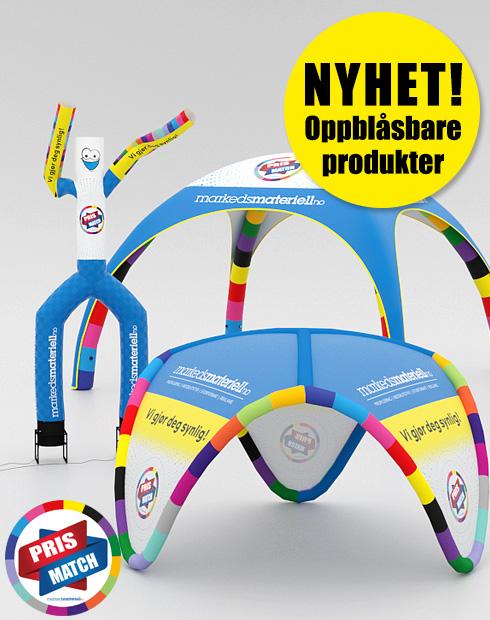 NYHET! Oppblåsbare produkter fra Markedsmateriell.no