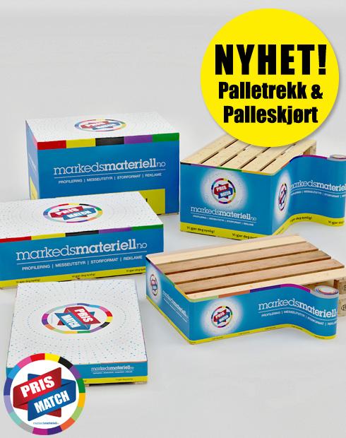 NYHET! Palletrekk & Palleskjørt fra Markedsmateriell.no
