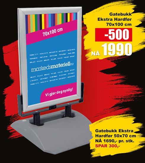 BLACK DAYS! Gatebukk Ekstra Hardfør fra Markedsmateriell.no!