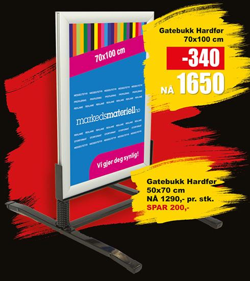 BLACK DAYS! Gatebukk Hardfør fra Markedsmateriell.no!