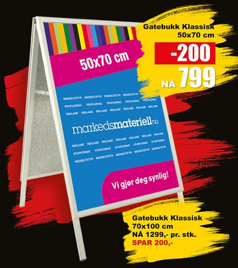 BLACK DAYS! Gatebukk Klassisk fra Markedsmateriell.no!